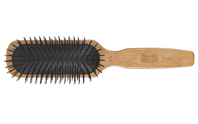 wooden paddle brush with black cushion Spornette Professional Brushes