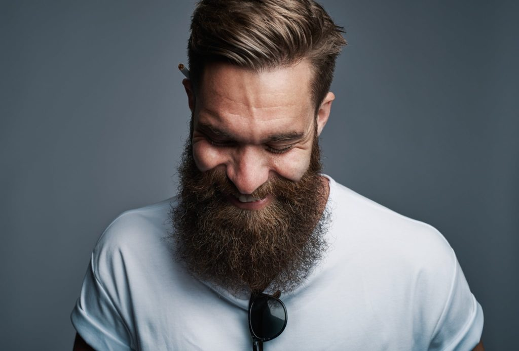 A man with a very full and healthy beard from when he learned how to grow facial hair Spornette Professional Brushes